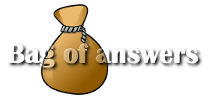 Bag of Answers – we've got answers for your questions